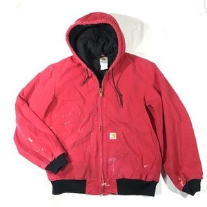 Carhartt Jackets & Coats - Carhartt Mens M Red Canvas Flannel Lined Jacket